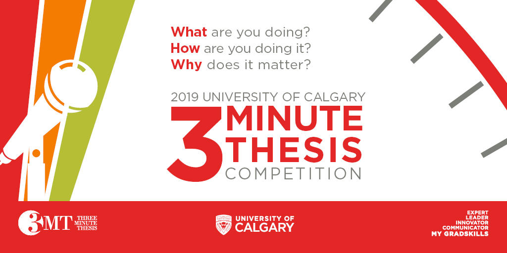3 Minute Thesis Competition.
