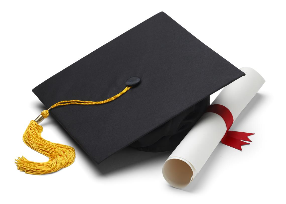 Mortarboard and parchment