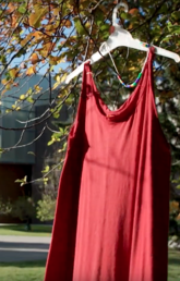 'When I see a red dress, I think of my sisters'