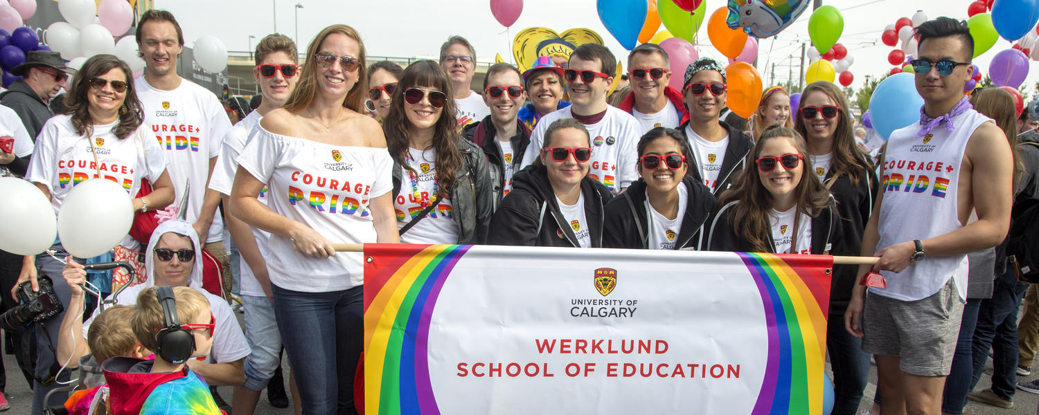 Werklund School of Education at the Calgary Pride Parade