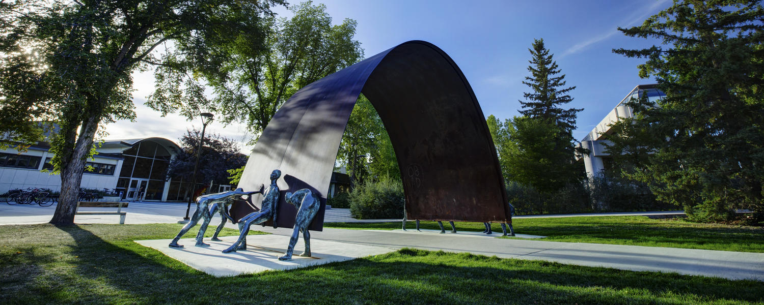 UCalgary campus sculpture