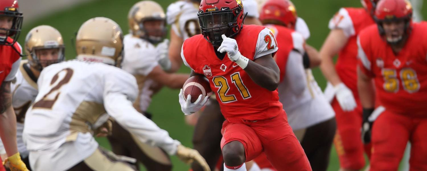 Dinos running back Jeshrun Antwi has learned to balance sports and academic excellence