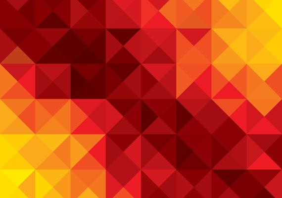 red and yellow geometric design