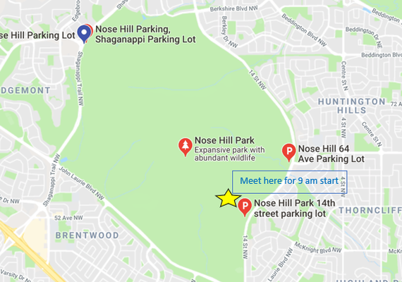 Map of Nose Hill Park